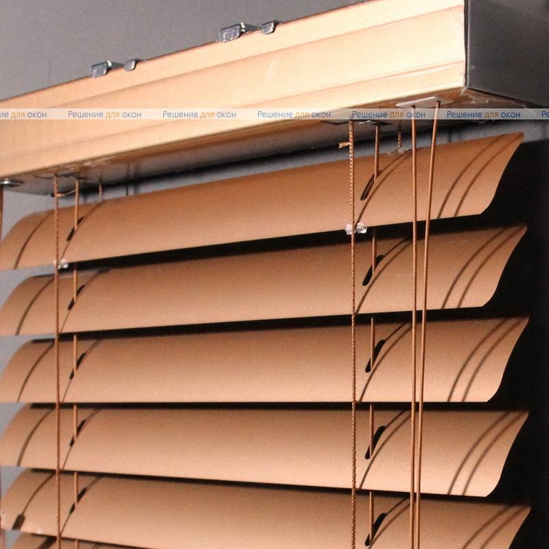 Жалюзи горизонтальные 50 мм, арт. 160 Красно - золотой металлик