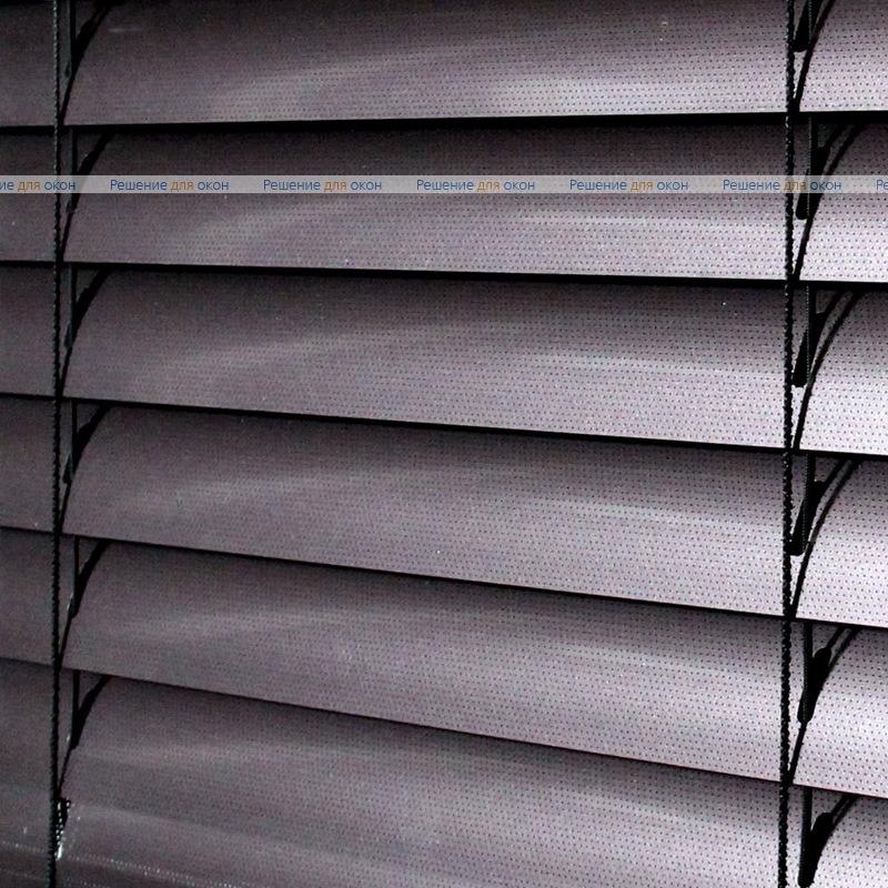 Жалюзи горизонтальные 50 мм, арт. 210 Коричневый металлик перфорация