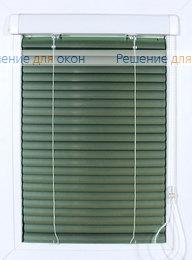 Жалюзи  Хит 2 на створку окна, ИзотраХит-2 25 мм цвет 7256 Зеленый металлик от производителя жалюзи и рулонных штор РДО