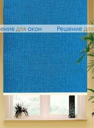Коробные рулонные шторы РК-42 Бокс квадрат  БОСТОН 5203 бирюзово-синий от производителя жалюзи и рулонных штор РДО