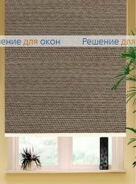Коробные рулонные шторы РК-42 Бокс квадрат  ПОРТО ПЕРЛ 7826 коричневый от производителя жалюзи и рулонных штор РДО