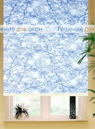 Коробные рулонные шторы РК-42 Бокс квадрат  СПРИНГ САТИН 501 синий от производителя жалюзи и рулонных штор РДО
