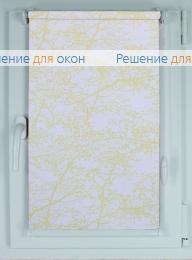 Рулонные шторы КОМПАКТ SPRING SATIN 701 желтный от производителя жалюзи и рулонных штор РДО