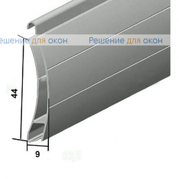 Рольставни на межкомнатные двери, Профиль AER44m/S Коричневый от производителя жалюзи и рулонных штор РДО
