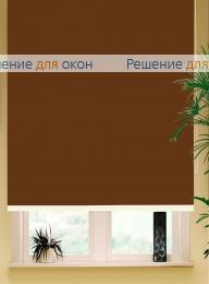 Коробные рулонные шторы РК-42 Бокс квадрат  АЛЛЕГРО 1180 коричневый от производителя жалюзи и рулонных штор РДО