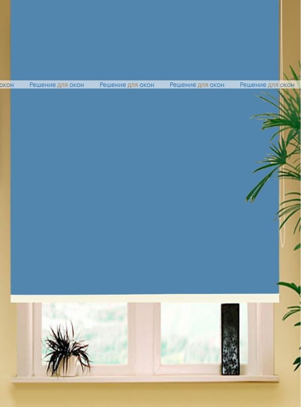 Коробные рулонные шторы РК-42 Бокс квадрат  АЛЛЕГРО 1220 темно-голубой от производителя жалюзи и рулонных штор РДО
