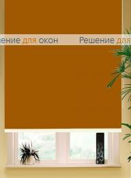 Коробные рулонные шторы РК-42 Бокс квадрат  БЕРЛИН Б/О 212 темно-золотисто-коричневый от производителя жалюзи и рулонных штор РДО