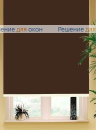 Коробные рулонные шторы РК-42 Бокс квадрат  БЕРЛИН Б/О 216 темно-коричневый от производителя жалюзи и рулонных штор РДО