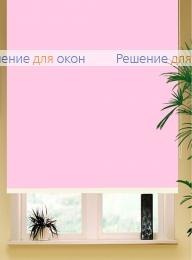 Коробные рулонные шторы РК-42 Бокс квадрат  БЕРЛИН СИЛЬВЕР XL 062 светло-розовый от производителя жалюзи и рулонных штор РДО