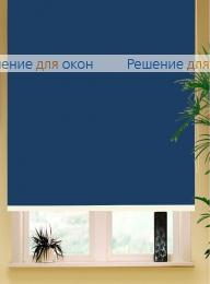 Коробные рулонные шторы РК-42 Бокс квадрат  БЕРЛИН СИЛЬВЕР XL 065 темно-синий от производителя жалюзи и рулонных штор РДО