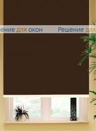 Коробные рулонные шторы РК-42 Бокс квадрат  БЕРЛИН СИЛЬВЕР 066 коричневый от производителя жалюзи и рулонных штор РДО