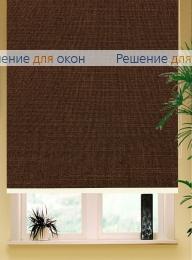Коробные рулонные шторы РК-42 Бокс квадрат  ЛИМА 8207 шоколад от производителя жалюзи и рулонных штор РДО