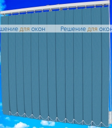 Жалюзи вертикальные тканевые, Жалюзи вертикальные ЛАЙН  111 синий от производителя жалюзи и рулонных штор РДО