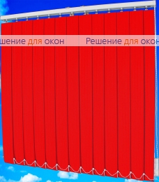 Жалюзи вертикальные тканевые, Жалюзи вертикальные ЛАЙН  4077 красный от производителя жалюзи и рулонных штор РДО