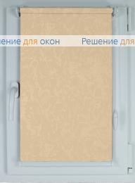 Рулонные шторы КОМПАКТ MIRACLE 403 желто-персиковый от производителя жалюзи и рулонных штор РДО