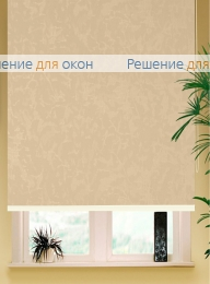 Коробные рулонные шторы РК-42 Бокс квадрат  МИРАКЛ 403 желто-персиковый от производителя жалюзи и рулонных штор РДО