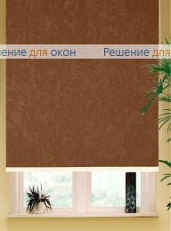 Коробные рулонные шторы РК-42 Бокс квадрат  МИРАКЛ 407 коричневый от производителя жалюзи и рулонных штор РДО