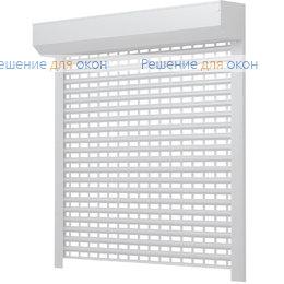 Решетчатые рольставни, Профиль AEG56 Белый от производителя жалюзи и рулонных штор РДО