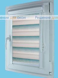 Витео плюс Зебра на створку окна, Витео плюс Зебра КАСКАД 7, морская волна от производителя жалюзи и рулонных штор РДО